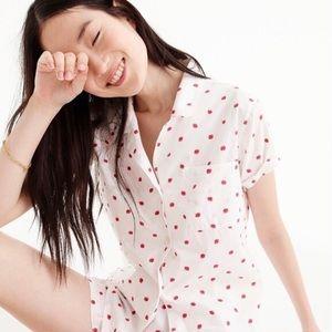 J.Crew Summer Pajama Short Set in Strawberries